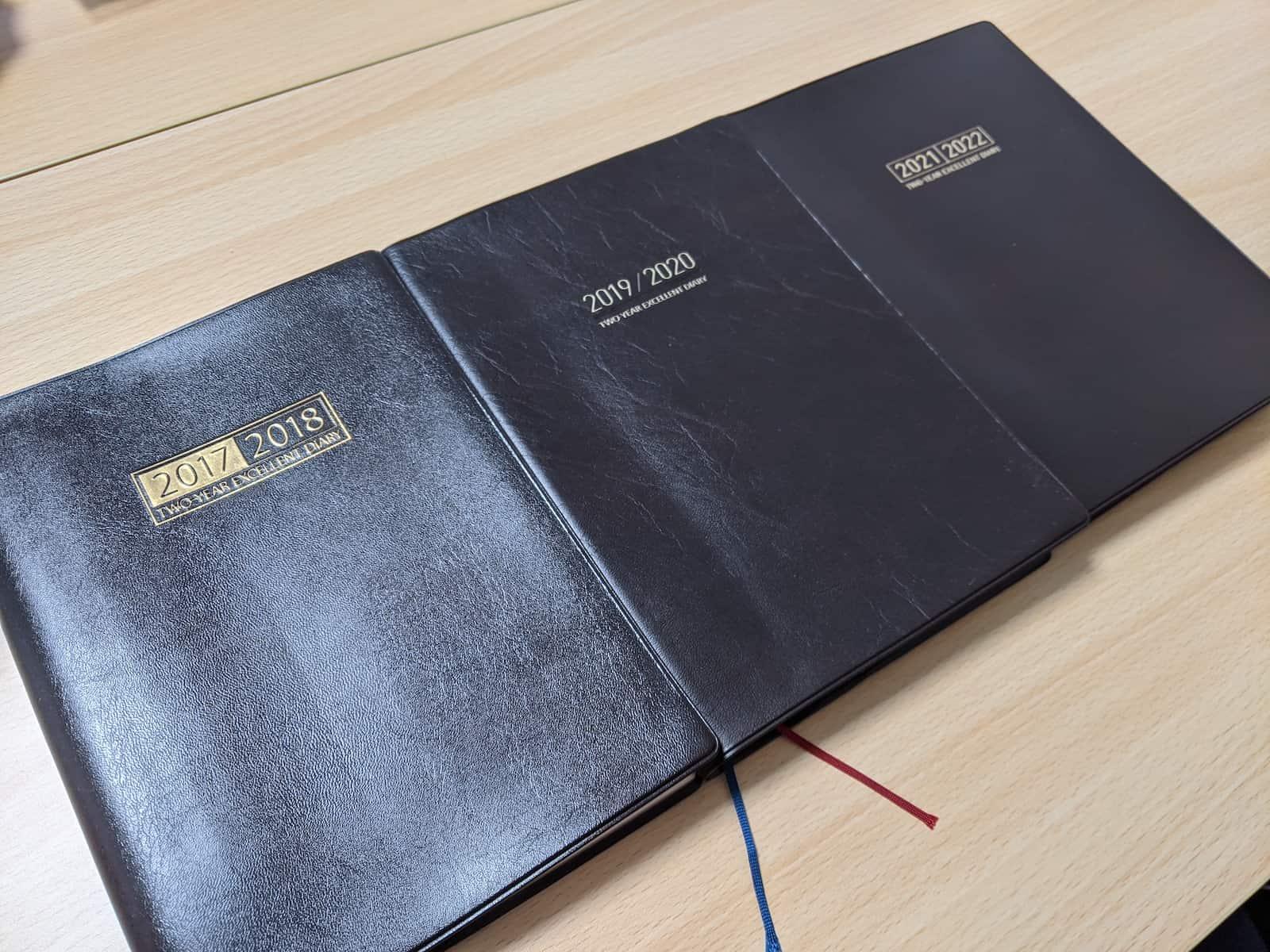 6年分の日記帳